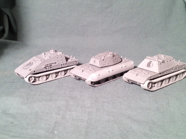 Bild 1 von E-100 Serie all three E-100 tanks